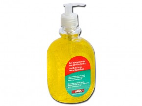 ANTIBACTERIAL GEL - bottle  500 ml - yellow - lemon